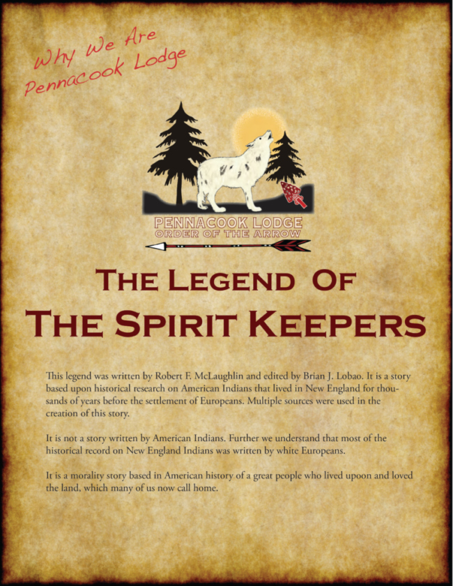 Legend of the Spirit Keepers – Pennacook Lodge, Order of the